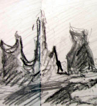 Sketch of Troll Rocks