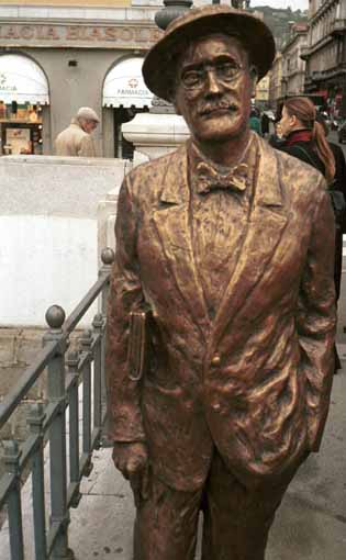 Statue of James Joyce at Ponterosso, Trieste