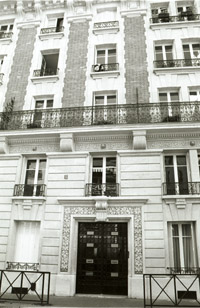 No. 5 Boulevard Raspail where Joyce lived in Paris