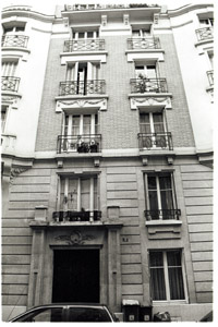 No. 2 Square Robiac where Joyce lived in Paris